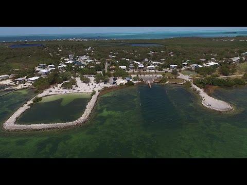 Harry Harris Beach and Park Tavernier Florida Keys DJI Phantom drone aerial video