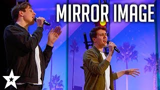 Mirror Image TWINS Perform With Great Personalities on America's Got Talent