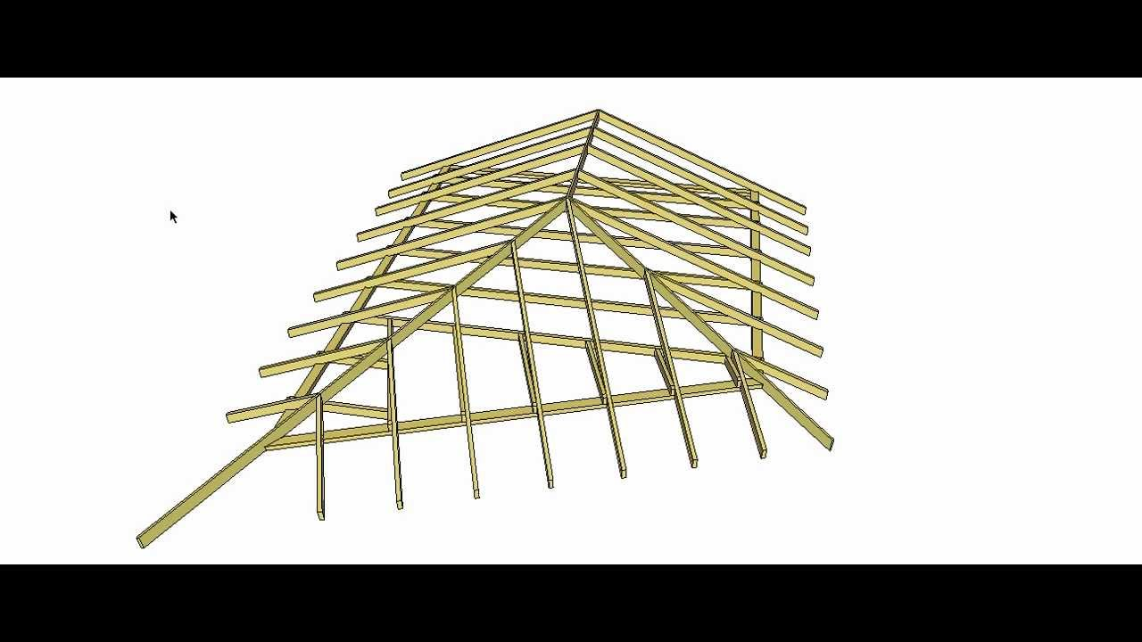 Oblique End Roof Geometrically Develop Roof Members