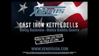 Cast Iron Kettlebells   Swing Backview  Mattia Balella Guerra