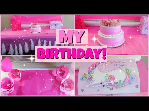 My Epic Pink Birthday Party!| DIY+ Decorations