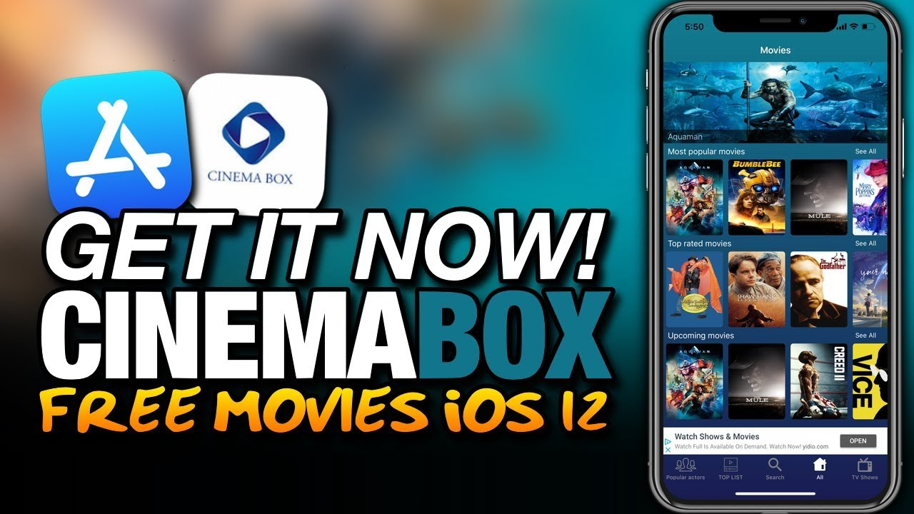 Get IT NOW! CINEMABOX From The APP STORE - FREE MOVIES On