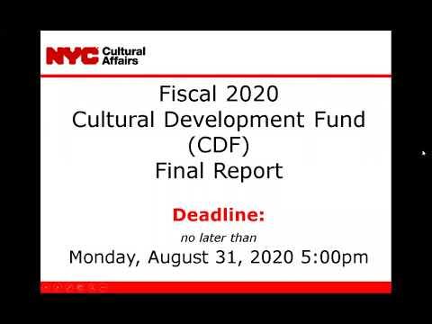 FY20 CDF Final Report Webinar
