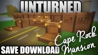 Unturned 3.0 Base Download - Cape Rock Mansion (how To Download Saves)