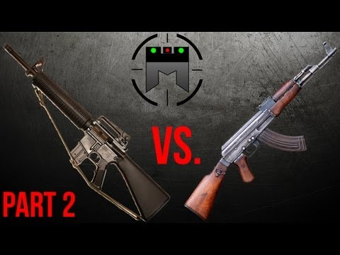 AR vs AK comparison with FASTEST shooter ever, Jerry Miculek: Part 2