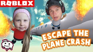 FLYING ON HOLIDAY-Escape the Plane Crash Obby!! | Roblox | Daddy and Barunka CZ/SK