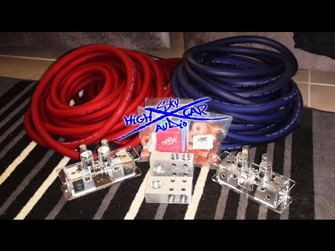 SkyHigh Car Audio Unboxing 2/0 Cable 100ft + More