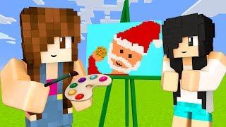 Minecraft Pixel Painters - DESENHANDO O PAPAI NOEL
