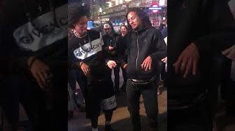 LES TWINS IN LONDON EXCHANGING W/ M2K