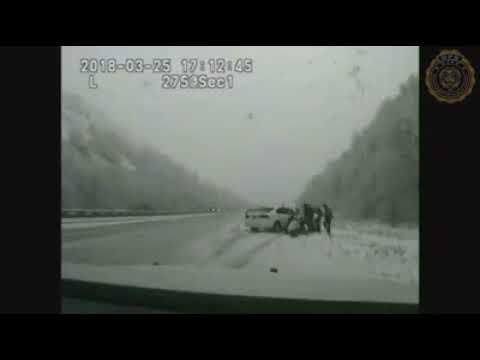 Utah trooper hit from behind by runaway car in Sardine Canyon