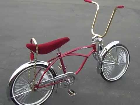 Red Gold Chrome Classic With Twist Bars Lowrider Bike Youtube