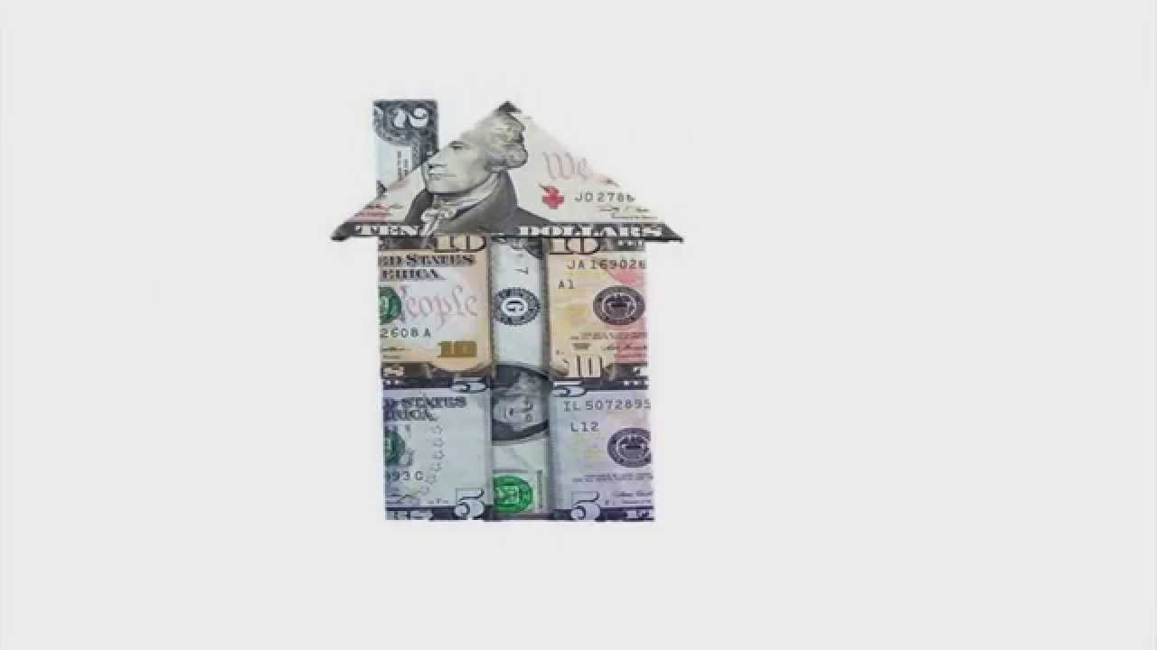 How to make an easy to fold money origami house design - How to earn more money in design home ...