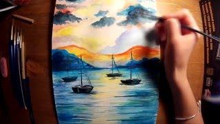Как нарисовать море . Рисую для вас!(Поддержите видео лайком! Подписываемся на канал! • Группа Вконтакте http://vk.com/envy_draw • Instagramm http://www.insta..., 2015-12-10T21:27:38.000Z)