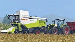 Farming Simulator 15 Claas Lexion 580 TerraTrac + Axion 950