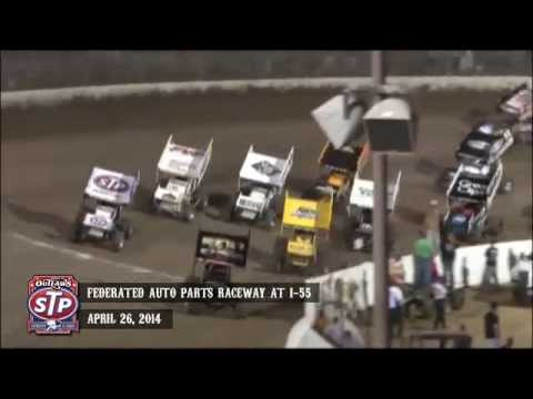 Highlights: World of Outlaws STP Sprint Cars Federated Auto Parts Raceway at I-55 April 26th, 2014