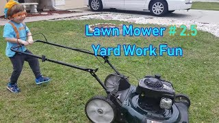 Best Kids Lawn Mower Yard Work Video ever | #1 Blippi fan Dressed Toddler Baby kids learning fun
