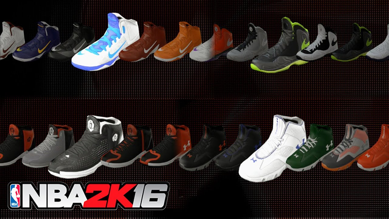 NBA 2K16 - All New Shoes, Jordan, Nike, Adidas, Under Armour (Sneaker  Brands Showcase) - YouTube
