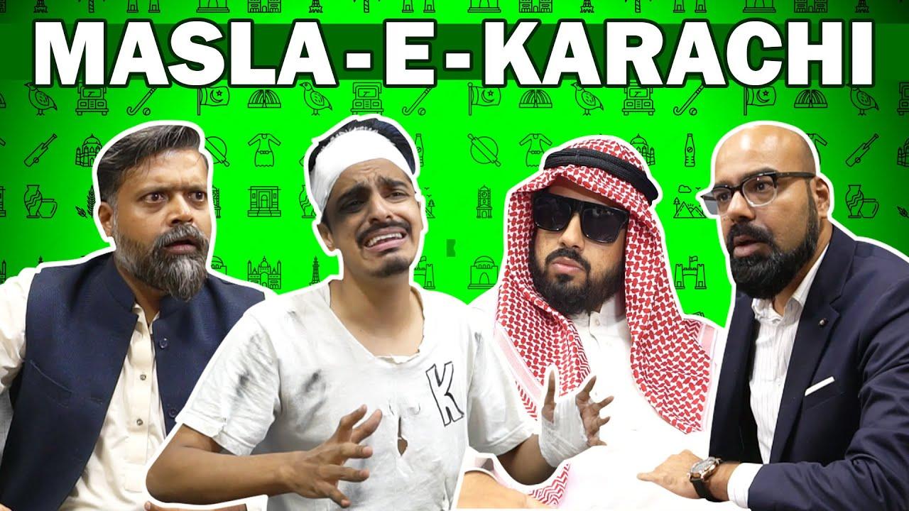 MASLA - E - KARACHI | Bekaar Films X JUNAID AKRAM | Comedy Skit
