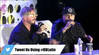 J Balvin Y  Nicky Jam- La mejor conferencia de los Billboard Latin Music Conferences 2017 Video