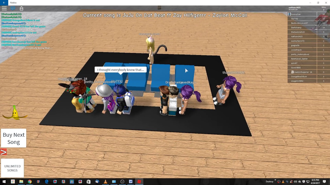 Roblox musical chairs youtube - Roblox Musical Chairs 2017 04 24
