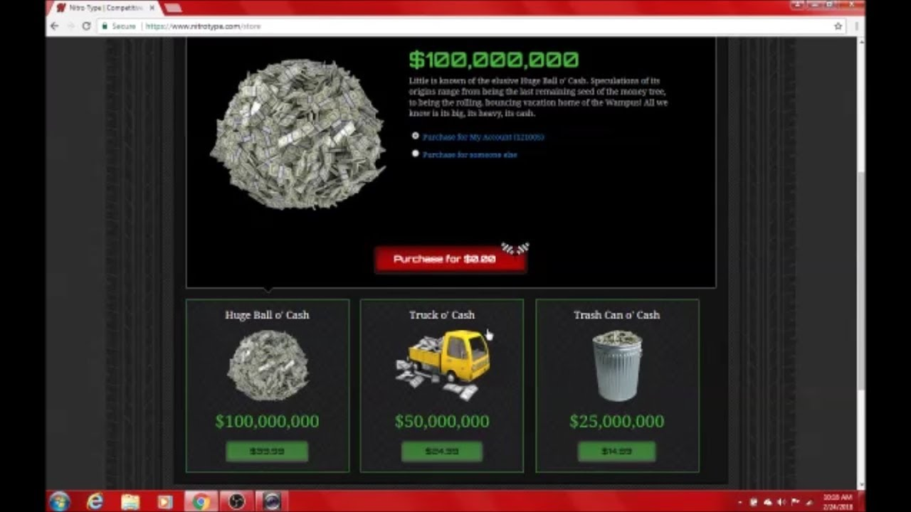 Nitro type money hack!!! (easy)