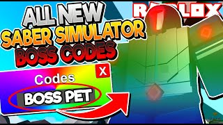 ALL NEW *RAINBOW BOSS* CODES in SABER SIMULATOR UPDATE! (Roblox)