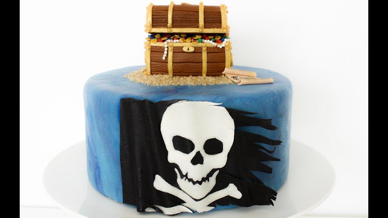 Gateau de pirate en pate a sucre