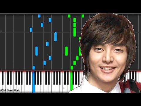 Boys Over Flowers - Stand By Me Piano midi