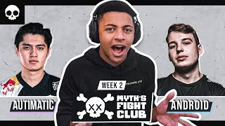 MYTH'S FIGHT CLUB #2 - TEAM ANDROID vs AUTIMATIC