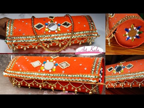 Tutorial step by step wedding altered bling diy clutch for Things made of waste material step by step