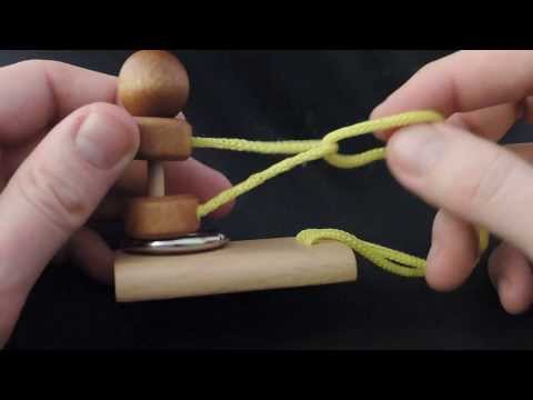 Chinese Puzzle - Free The Ring - Mini Rope Puzzle - Solution