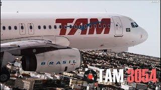 Aterrizaje difícil - Vuelo 3054 de TAM Airlines (Reconstrucción)