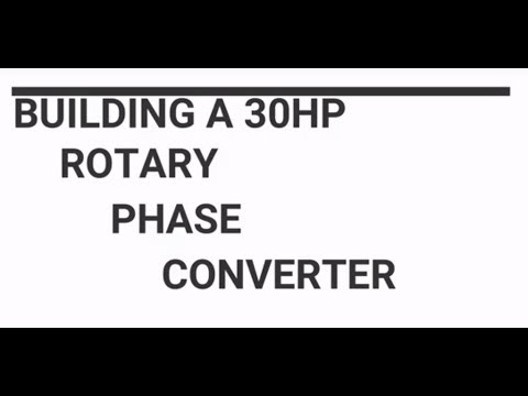 Convert Single Phase Power to Three Phase Using a Rotar
