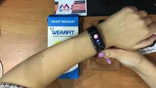 Фитнес часы Smar Bracelet C1 (F602) с измерением давления и сердечного ритма