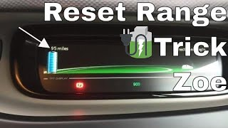 How to reset range on ZOE Reset the guessometer 🔌🔋🚗