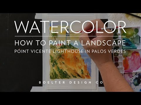 How to Watercolor - A Tutorial on Painting the Palos Verdes Lighthouse
