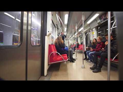Poland, Warsaw, metro ride from Politechnika to Słodowiec, 1X escalator