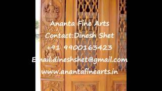 Ananta Fine Arts-carved Door
