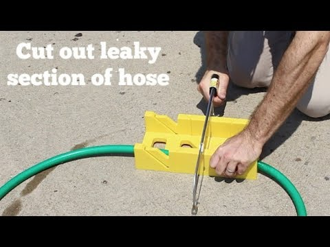 Easy Garden Hose Repair by Home Repair Tutor YouTube