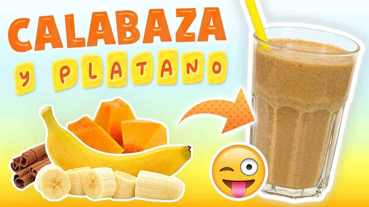 Batido de Calabaza, Plátano y Canela para Reducir el Colesterol Malo - Licuado para Bajar de Peso