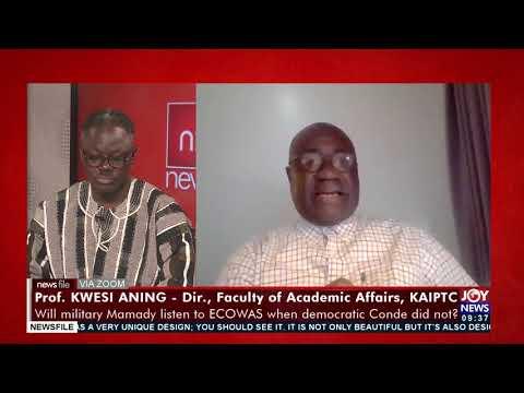 Prof Kwesi Aning cheers IGP(George Akuffo-Dampare) - Newsfile on Joy News (18-9-21)
