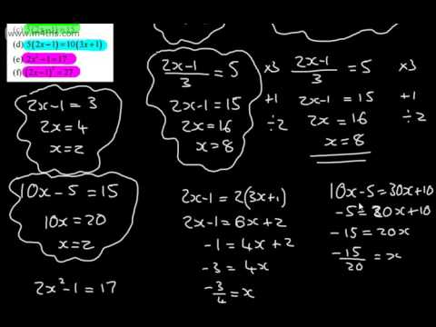 9-1 GCSE Maths - Rearranging Equations and Formulae - Algebra