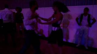 Tanja La Alemana & Karim - dancing cuban salsa at the Paris sensual festival, 2010