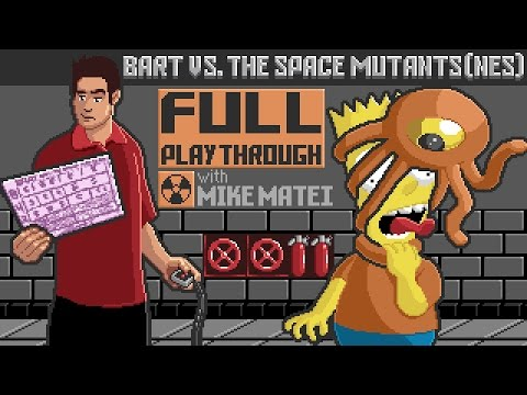 Bart vs. the Space Mutants (NES) Full Playthrough w/ Mike Matei