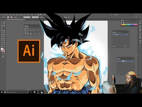 GOKU'S NEW TRANSFORMATION !!! Speed Art -TUTORIAL FOR ADOBE ILLUSTRATOR