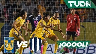 ¡Belén Cruz abre el marcador!   Tigres 1 - 0 Rayadas   Liga MX Femenil - Final - AP 19   TUDN