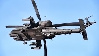 Apache Helicopter Maneuver & Shoot