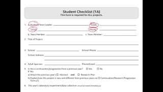 PAF Form 1A - Student Checklist