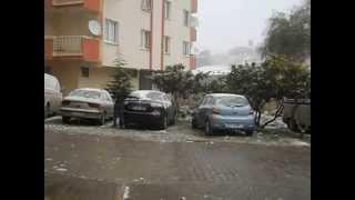 izmir'e kar yağdı