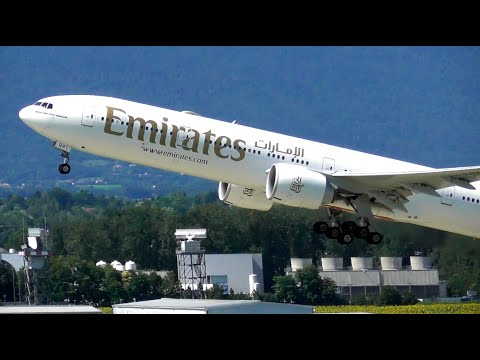 1 Hour of Plane Spotting at Geneva Int'l Airport   10-08-21
